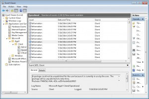 You see that in the event viewer.