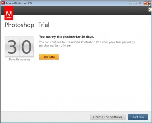 It is a trial package and close this screen.