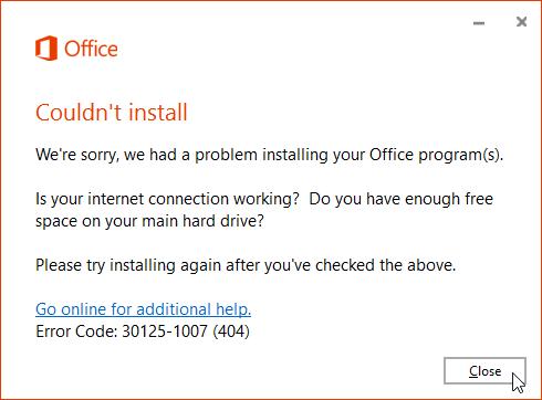 Error duing downloading Office 365 C2R files